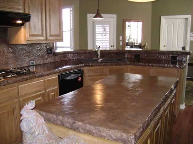 Now We Can Give You Concrete Countertops In Any Design And In Any Shape.  There Are No Limits To What You Can Do With These Countertops. You Will Be  Amazed.